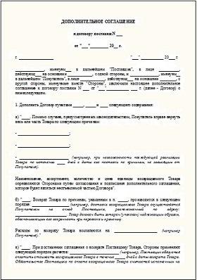 Образец Составления Дополнительного Соглашения К Договору - фото 5